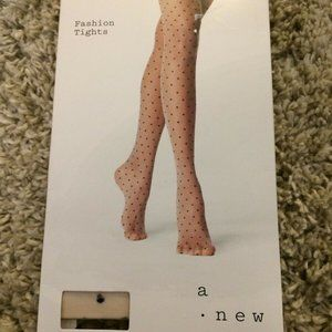 a new day Accessories - Opaque Stockings Tights A New Day White Polka Dot